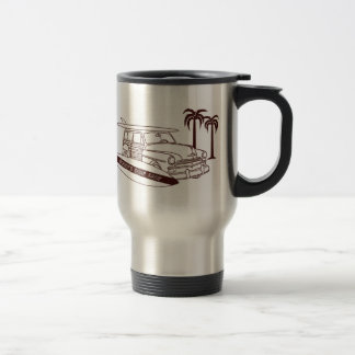 Woody's Surf Shop Travel Mug