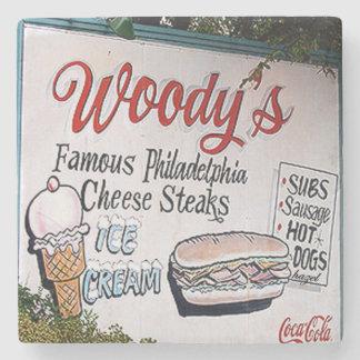 Woody's, Virginia Highland, Atlanta Landmark Marbl Stone Coaster