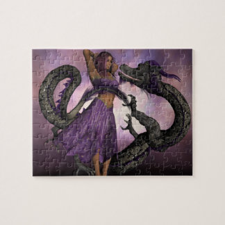 Wooed by the Dragon Jigsaw Puzzle