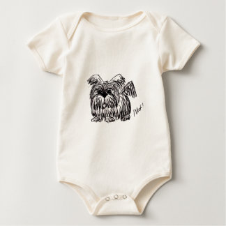 Woof A Dust Mop Dog Baby Bodysuit
