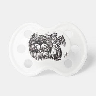 Woof A Dust Mop Dog Baby Pacifier