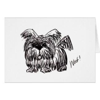 Woof A Dust Mop Dog Card