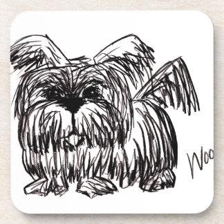 Woof A Dust Mop Dog Coaster