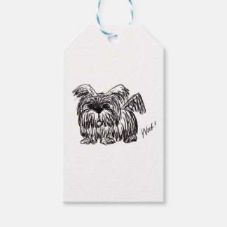 Woof A Dust Mop Dog Gift Tags