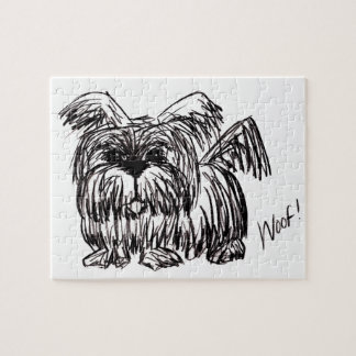 Woof A Dust Mop Dog Jigsaw Puzzle