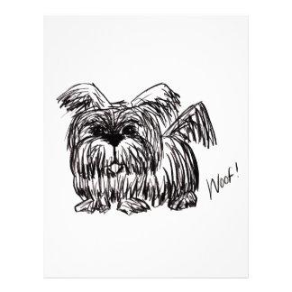 Woof A Dust Mop Dog Letterhead