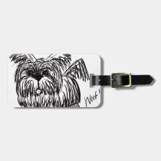 Woof A Dust Mop Dog Luggage Tag