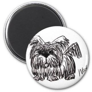 Woof A Dust Mop Dog Magnet