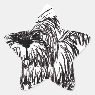 Woof A Dust Mop Dog Star Sticker