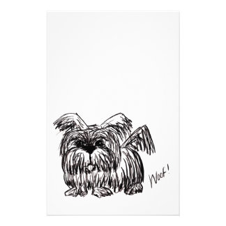 Woof A Dust Mop Dog Stationery