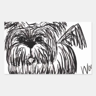 Woof A Dust Mop Dog Sticker