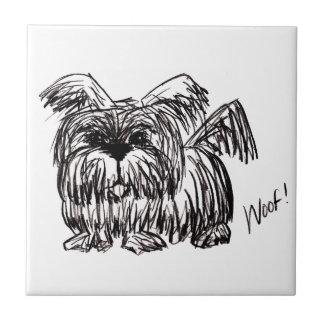 Woof A Dust Mop Dog Tile