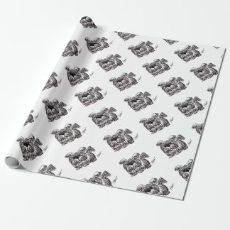 Woof A Dust Mop Dog Wrapping Paper