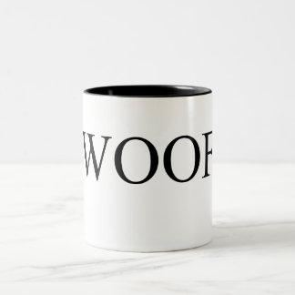 Woof black Two-Tone mug
