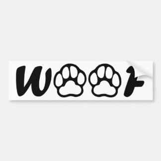 """Woof"" Bumper sticker"