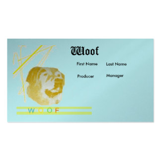 Woof Double-Sided Standard Business Cards (Pack Of 100)