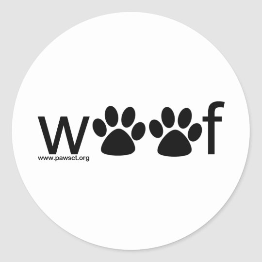 Woof Classic Round Sticker