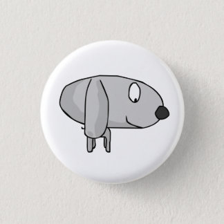 woof dog 1 inch round button