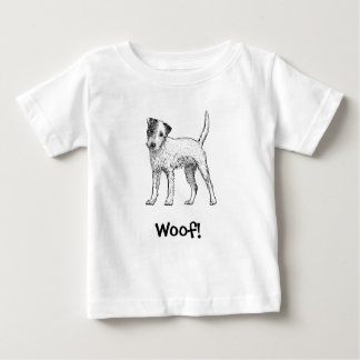 Woof! Dog T-Shirt, Jack Russell, Parsons Russell Baby T-Shirt