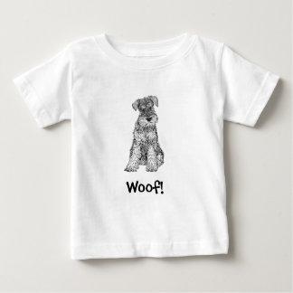 Woof! Dog T-Shirt, Schnauzer Baby T-Shirt