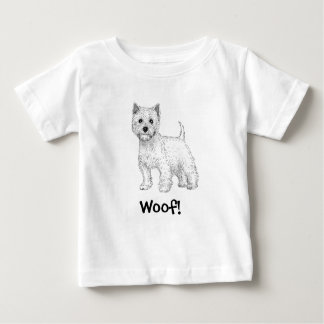 Woof! Dog T-Shirt, West Highland Terrier Baby T-Shirt