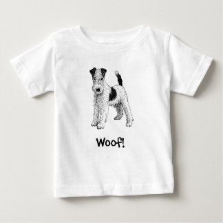 Woof! Dog T-Shirt, Wire Fox Terrier Baby T-Shirt