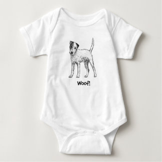 Woof! Doggy Baby Bodysuit - Jack Russell Terrier