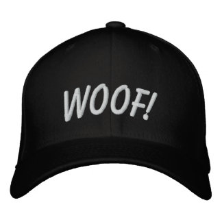 WOOF! EMBROIDERED BASEBALL CAPS