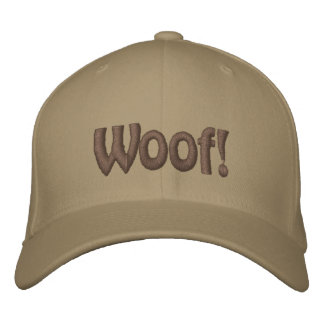 Woof! Emroidered Hat Embroidered Baseball Cap