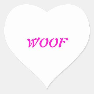Woof Heart Sticker
