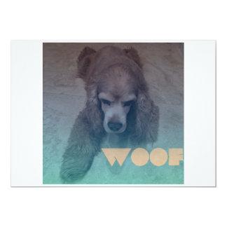 Woof 5x7 Paper Invitation Card