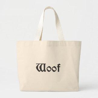 Woof Large Tote Bag