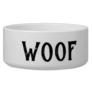 Woof Personalized Large Dog Bowl