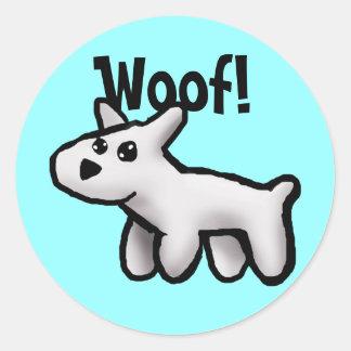 Woof! Round Sticker
