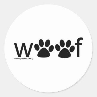 Woof Round Sticker