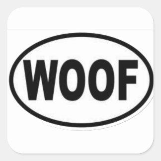 woof square sticker