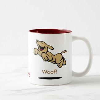 Woof! Two-Tone Coffee Mug