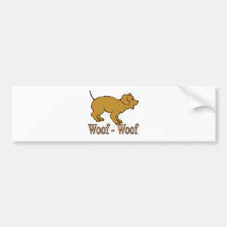 Woof - Woof Bumper Sticker