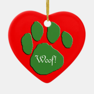 Woof Woof Holidays Christmas Ornament