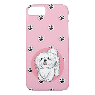 woof! woof!  Lhasa apso iPhone 8/7 Case