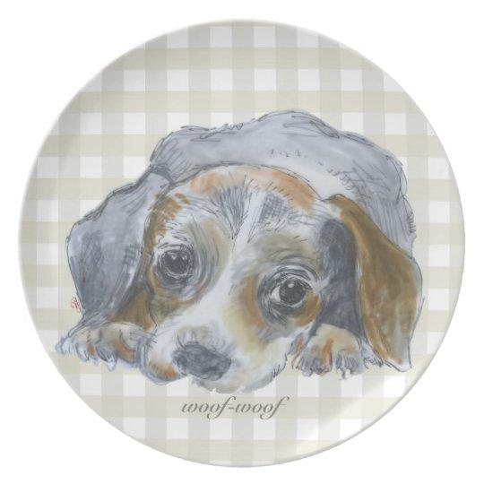 Woof-woof - Melamine Plate