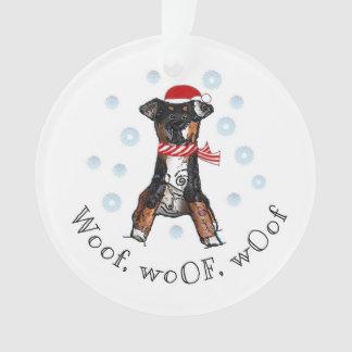 Woof, WoOF, WOof Ornament