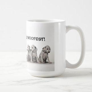 WOOF, WOOFIER, WOOFIEST! COFFEE MUG