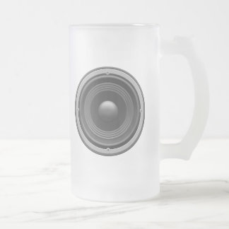 Woofer Frosted Glass Mug