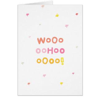 WooHoo! (Congrats) Greeting Card