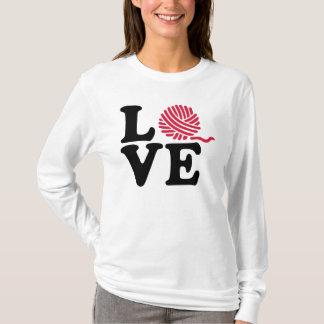 Wool knitting love T-Shirt