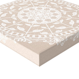 Wool Mandala Canvas Print