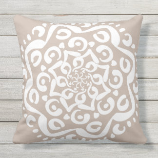 Wool Mandala Throw Pillow