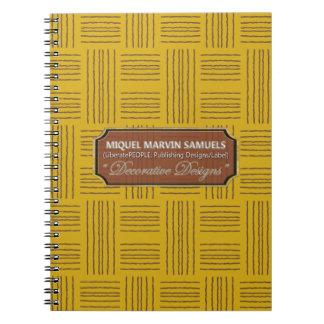 Wool Pattern DecorYellow Brown Modern Notebook