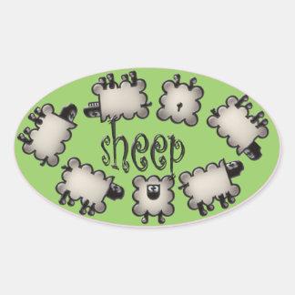 woollies oval sticker